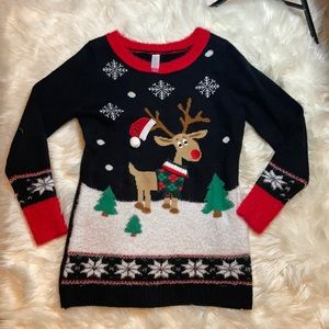 NWOT Reindeer ugly Christmas sweater holiday party